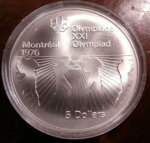 1976 $5 Canada XXI Olympiad Montréal Olympics Boxing - .925 Silver