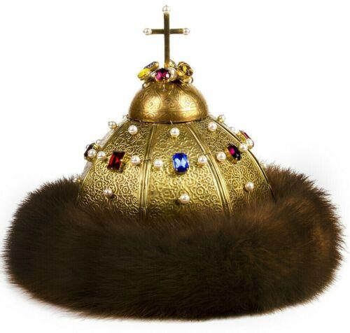 Monomach Hat Monomakh Cap Russian Tsar Romanov Royal Crown Шапка Мономаха UNIQUE