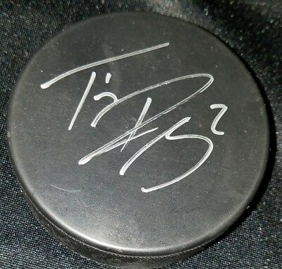 TRAVIS RAMSEY  ST. JOHN ICE CAPS  AHL  signed Autographed HOCKEY PUCK NO COA