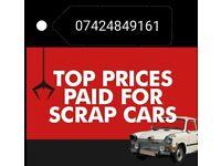 Scrap Cars Vans 4x4 wanted for cash