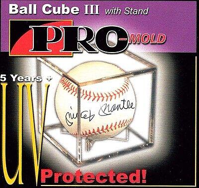 (12 Pro Mold Cube III Baseball Holder Display Case  Ball Cradle  UV )