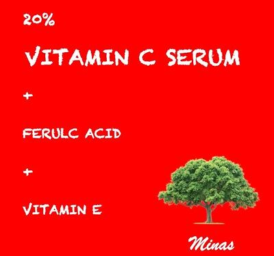 Pure Vitamin C Hyaluronic Acid Serum 20% for Face | BEST Anti Aging | 60