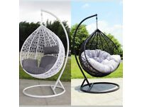 Egg chairs black/white medium or large