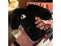 Fluffy bunny I phone 7 plus case