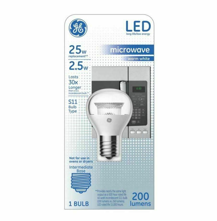 GE 2.5W LED  Warm White S11 LED Appliance Light Bulb