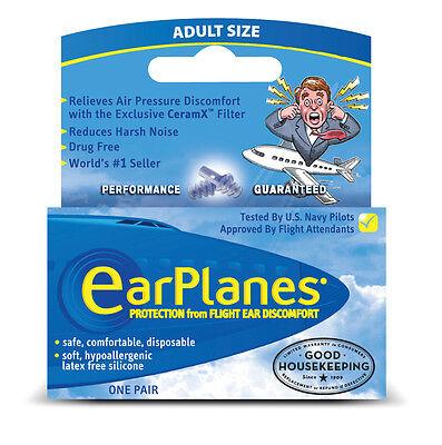 EarPlanes Silicone Earplugs (Adults, 12 Years+)