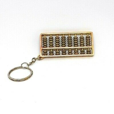 Abacus gold-toned Keychain  - Chinese counter 8 columns