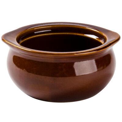 24 PACK 12 Oz Brown Onion Soup Crock Pot Bowl Set Commercial Restaurant -