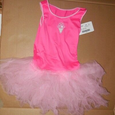 Tutu Tank (NWT Tutu tank top w/ ice cream cone motif Pink Girls L/XL Spandex Ballerina fun)