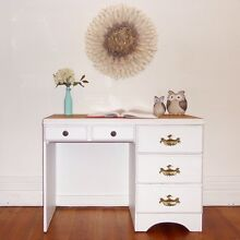 Shabby chic solid wood desk / dressing table / drawers Cremorne North Sydney Area Preview
