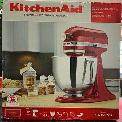 BRAND NEW KitchenAid KSM150PSER Empire Red 5-quart Artisan Tilt-Head Stand Mixer