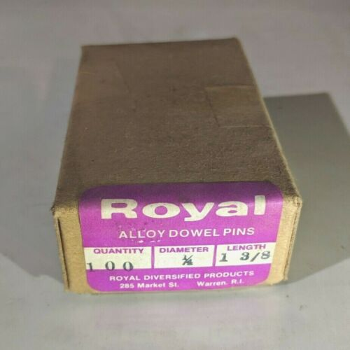 """Pack of 100 - 1/4"""" x 1-3/8"""" Royal Dowel Pins Alloy Steel"""
