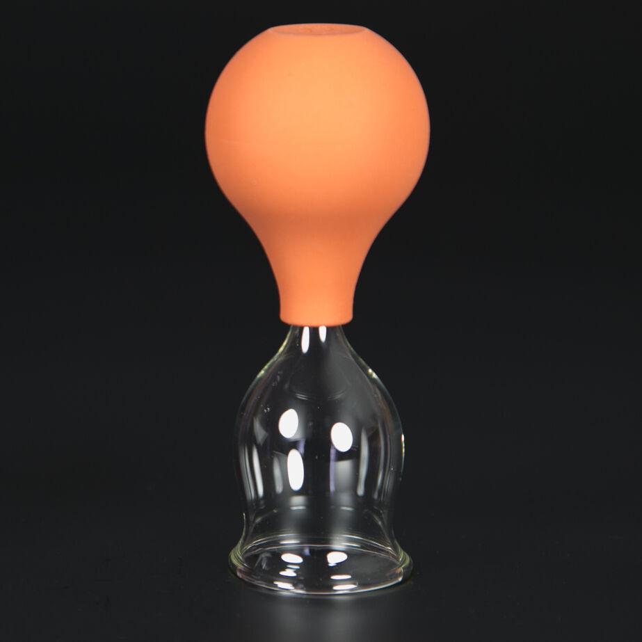 Schröpfglas Schröpfgläser mit Saugball med. Schröpfen Original Lauschaer Glas 35 mm