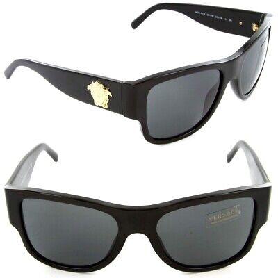 Authentic VERSACE Sunglasses VE 4275 GB1/87 58mm Black-Gold / Grey Lens