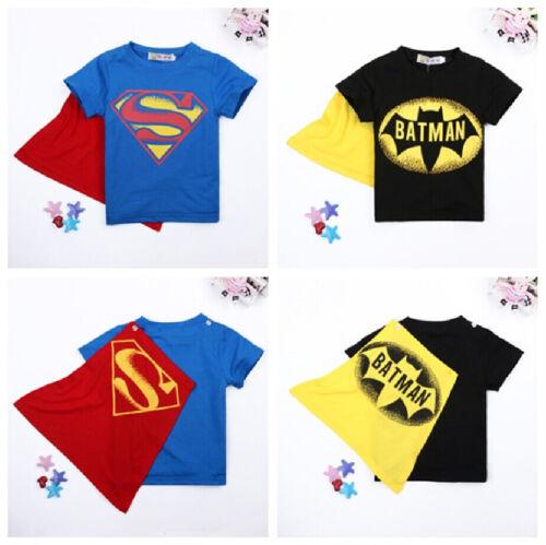 Toddler Kids Cartoon T shirt Baby Boys Short Sleeve Batman C