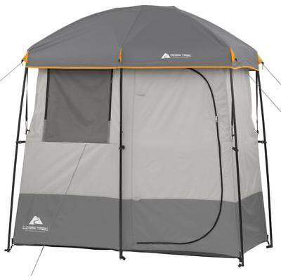 2 Scope Shower Tent Camping Gear Beach Shelter Outdoor Ozark Trail Pallid Cabana