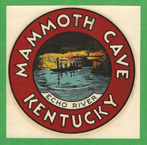 "VINTAGE ORIGINAL 1946 GOLDFARB ""MAMMOTH CAVE"" KENTUCKY STATE WATER DECAL ART"
