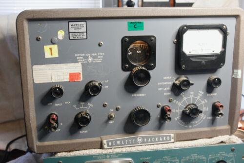 Hewlett Packard Vacuum Tube Distortion Analyzer Restored Antique From Boeing