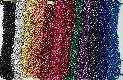 72 Color Choice Mardi Gras Beads Party Favors Necklaces 6 Dozen 7mm 33 inch