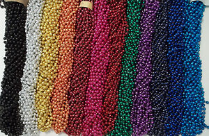 72 COLOR CHOICE MARDI GRAS BEADS PARTY FAVORS NECKLACES 6 DOZEN