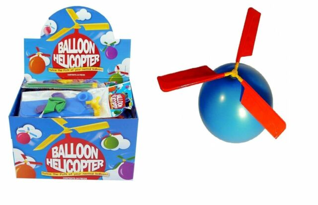 HELICOPTER BALLOONS CHILDREN LOOT GOODY PARTY BAGS PINNATA FILLERS TOYS t51195
