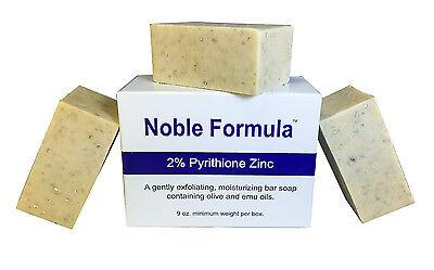 Noble Formula 2% Pyrithione Zinc (ZnP) Bar Soap - Psoriasis, Eczema - 3 Pack