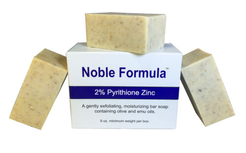 Noble Formula 2 Pyrithione Zinc ZnP Original Bar Soap, 3 oz