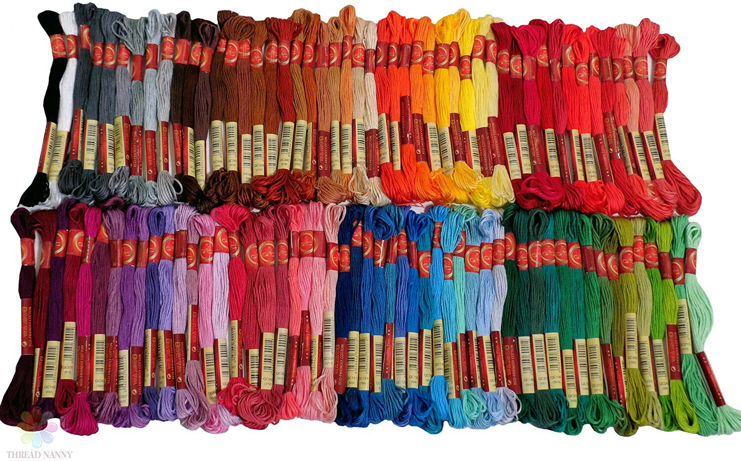 Embroidery Thread - Full 100 Colors Embroidery Floss Skeins