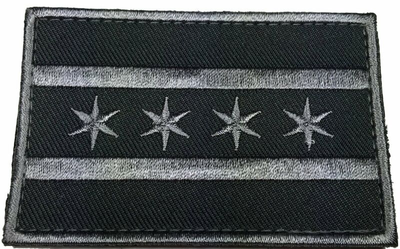 CHICAGO ILLINOIS FLAG POLICE 3 inch  TACTICAL COMBAT SWAT POLICE HOOK  PATCH