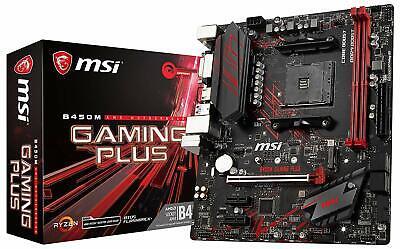 MSI B450M GAMING PLUS Micro-ATX Motherboard