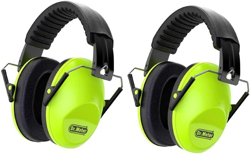 Dr.meter Kids Noise Reduction Earmuffs, Green-2 Packs
