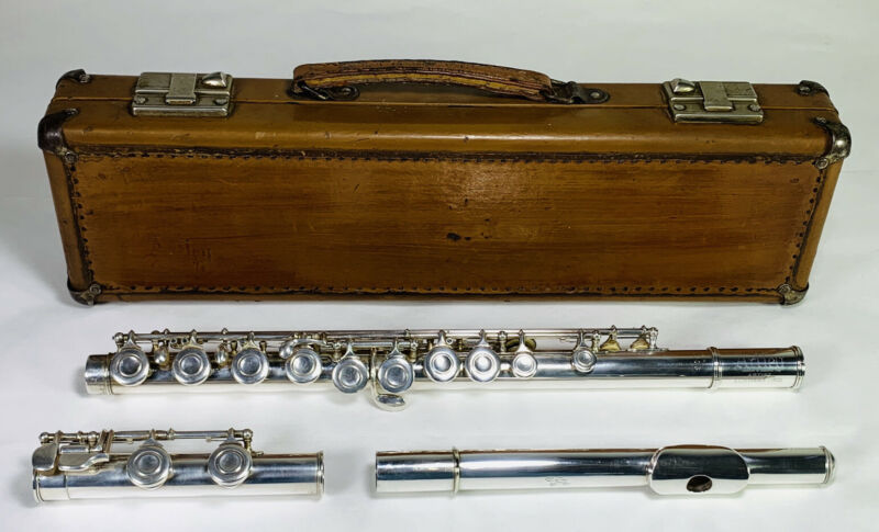 Vintage Artley Artist Silver Flute Serial 76206 Serviced, Ready to Play
