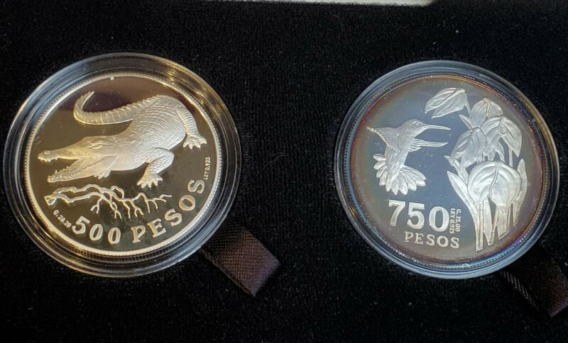 1978 Colombia 500 & 750 Pesos Proof Boxed Set