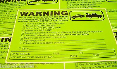 12 VIOLATION NO ILLEGALLY PARKING FIRE LANE TOWING WARNING CAR WINDOW STICKERS