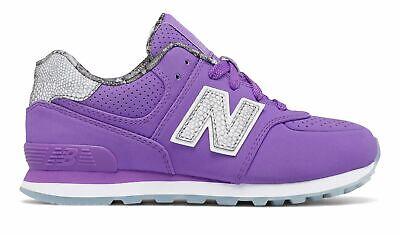 New Balance Girls Big Kid's 574 Luxe Rep Sneaker Shoes Low-Cut Stylish - New Balance 574 Kids