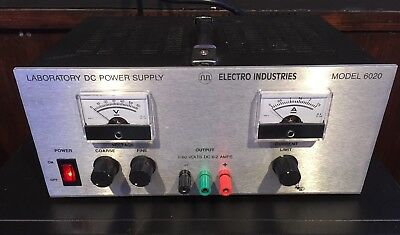 Electro Industries Model 6020 Laboratory Dc Power Supply 0-60v Dc 0-2amps
