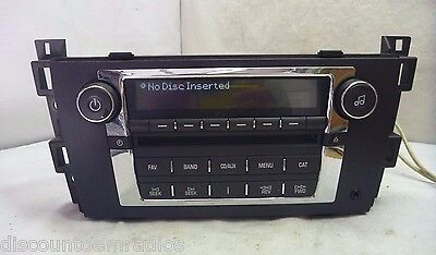 2007 2008 2009 GM Cadillac DTS Radio Cd Mp3 Player 15809941 BC24458