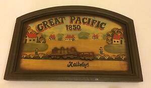 Great Pacific Railways Wooden sign/art decorative. Singleton Singleton Area Preview
