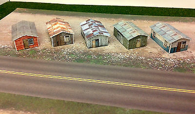 Z Scale Buildings - (5) Weathered Sheds  Cardstock kit set WP2 for sale  Canada
