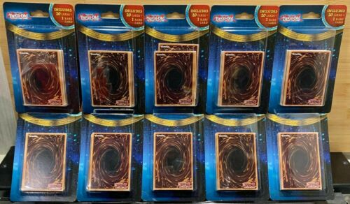 Lot Of 10 Mystery Yugioh Packs 20 Cards + 1 Rare Card Per Pack Yu-gi-oh! Sealed