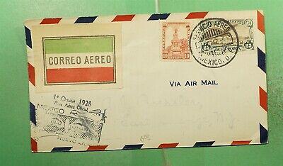 DR WHO 1928 MEXICO FIRST FLIGHT TO NUEVO LAREDO TX USA  G15353