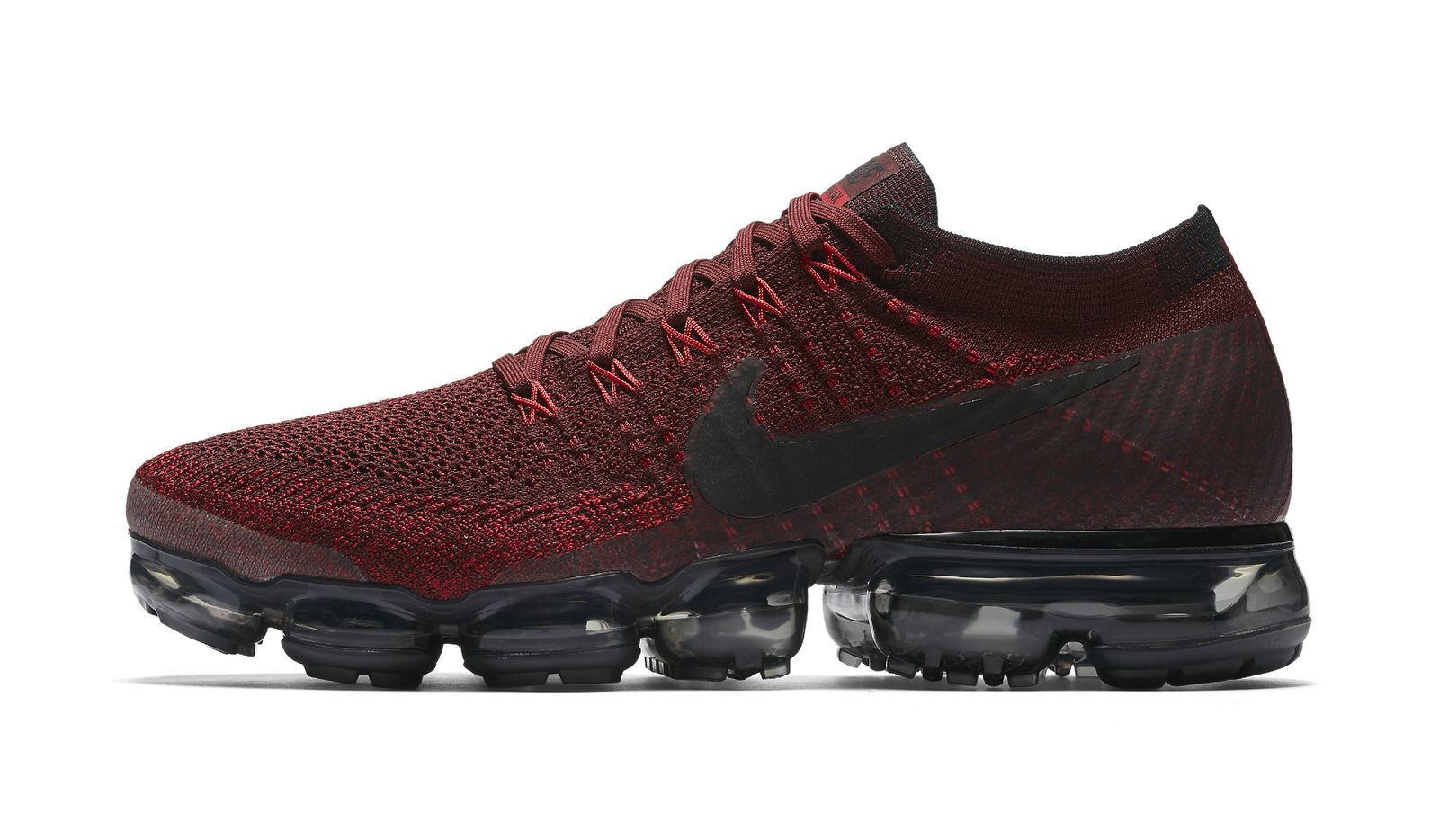 ecbd3c952a6b Nike Air Vapormax Flyknit Dark Team Red Black Mens Running Shoes ...
