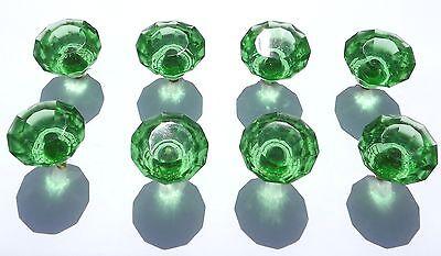 Grünes Glas-türen (Glas / Geschliffenes glas klein grün schublade & schrank ziehen tür griffe 35mm)