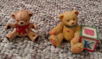 (Cherished Teddy bear figurine, Enesco porcelain ceramic, collectible - NEW)