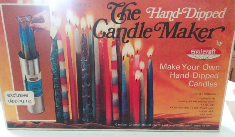Skil-Craft 1972 Candle Maker Hand Dipped  New old Stock Vintage Mold Wax
