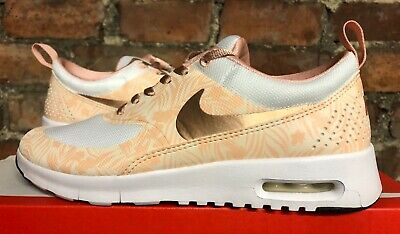 WOMENS NIKE AIR MAX THEA PRINT UK5.5 US6 EUR38.5 WHITE METALLIC RED BRONZE GYM