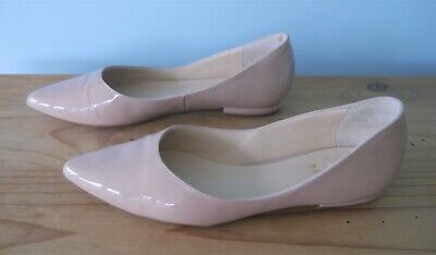 Hogl Nude Patent Leather Flats - size 5.5Uk *RRP £125