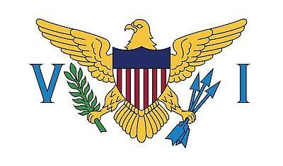 Islands Flag Decal Sticker (Virgin Islands US Flag Vinyl Decal Bumper Sticker 2-Pack Car Truck Laptop Window )