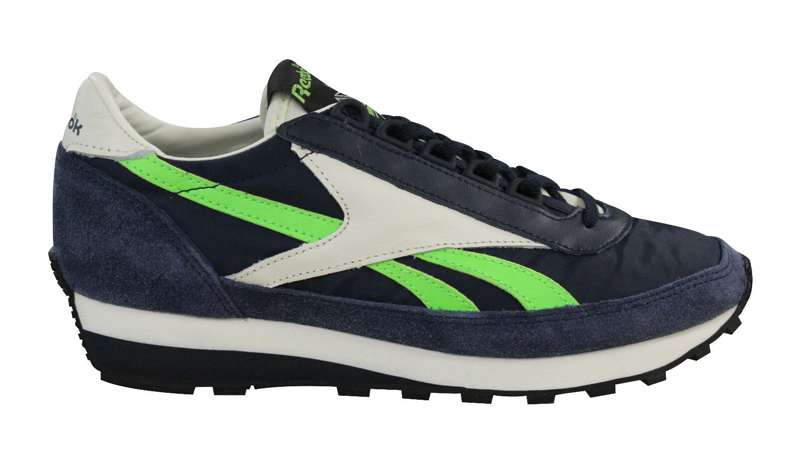 2f077403704023 Reebok Aztec OG Suede Mens Womens Unisex Lace Up Trainers Navy ...