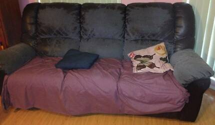 Leather Lounge Set + Sofa Bed Plumpton Blacktown Area Preview